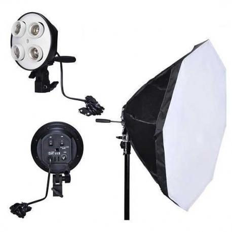 NiceFoto G804C-2 lumière continue avec softbox Octa 65cm