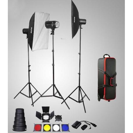 Nicefoto KT603 kit Flash 3x180w + CB04